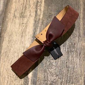 Burberry Prorsum, Suede Bow Belt Mahogany